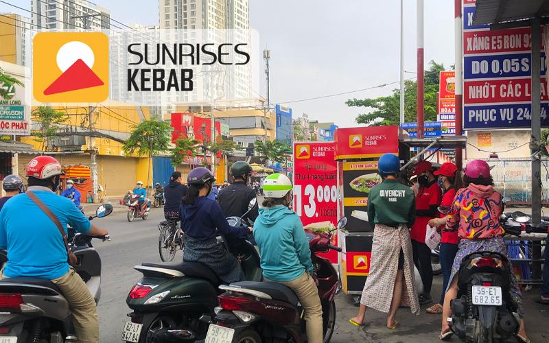 Điểm bán bánh mì kebab của SUNRISES KEBAB